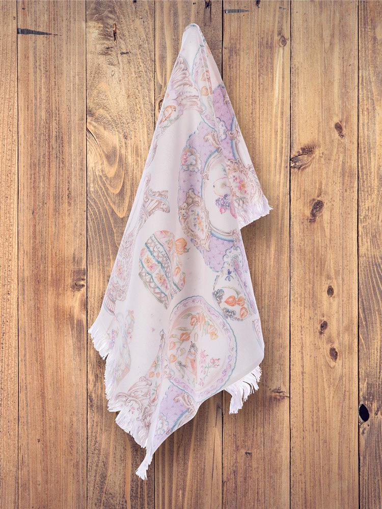 Махровое полотенце с жаккардом 50х70 см (1 шт) Carlton Tivolyo