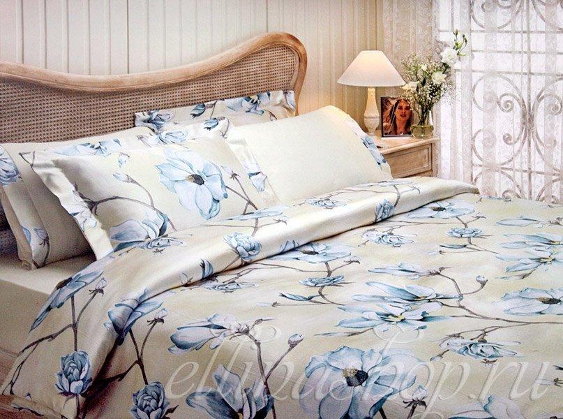 Claris кремовый-фиолетовый  - постельное белье с жатым шелком Tivolyo