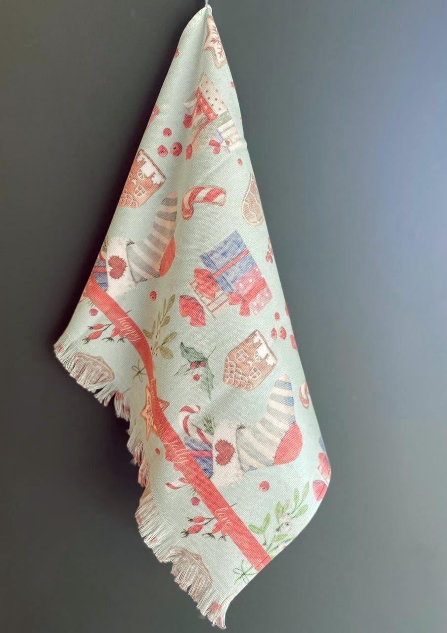 Махровое полотенце с жаккардом 50х70 см (1 шт) Cookie Tivolyo