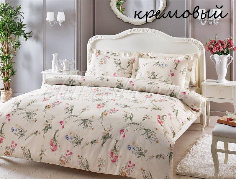 Elenore постельное белье из сатина кремовый Tivolyo
