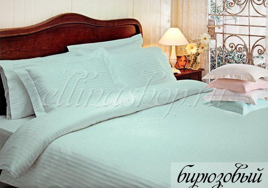 Жаккард бирюзовый комплект постельного белья Tivolyo