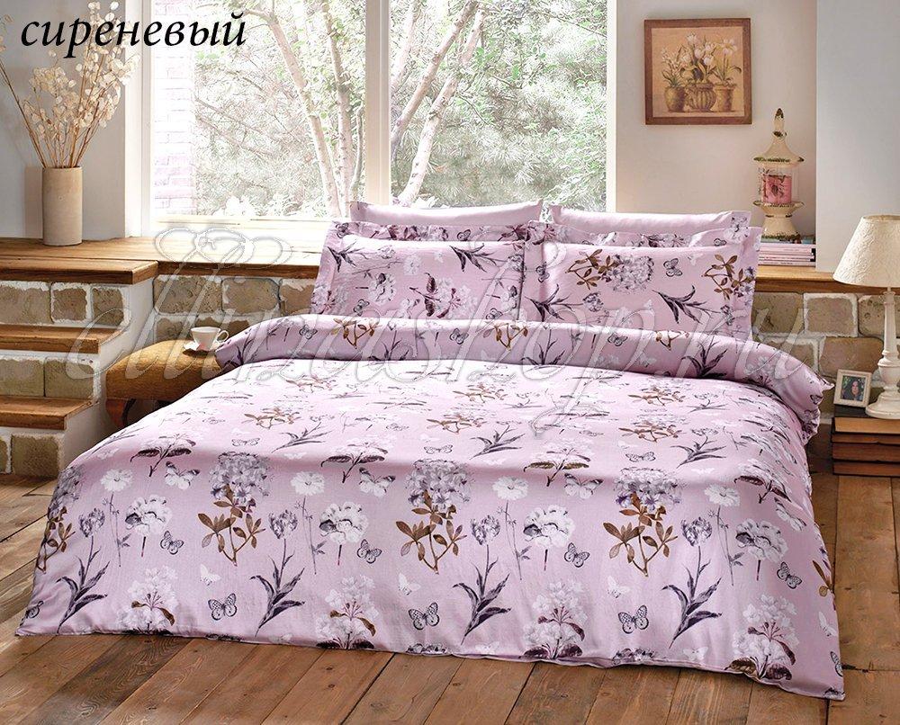 Nature сиреневый - постельное белье с жатым шелком Tivolyo
