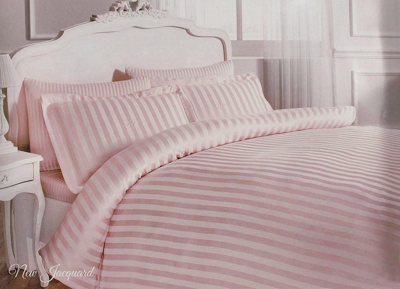 Постельное белье New Jacquard розовый Tivolyo