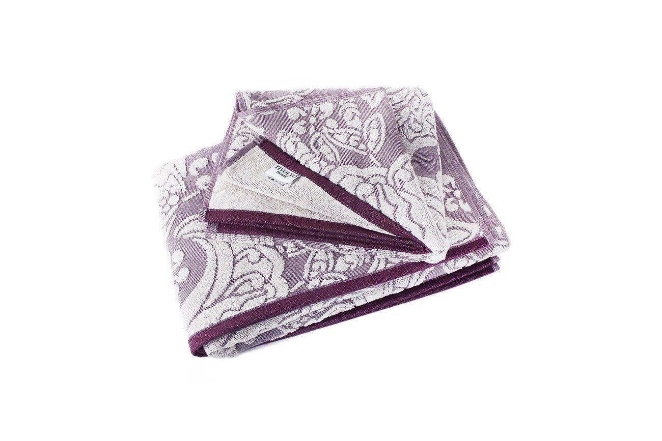 Комплект полотенец (50x90+75x150) фиолетовый Sandra Tivolyo