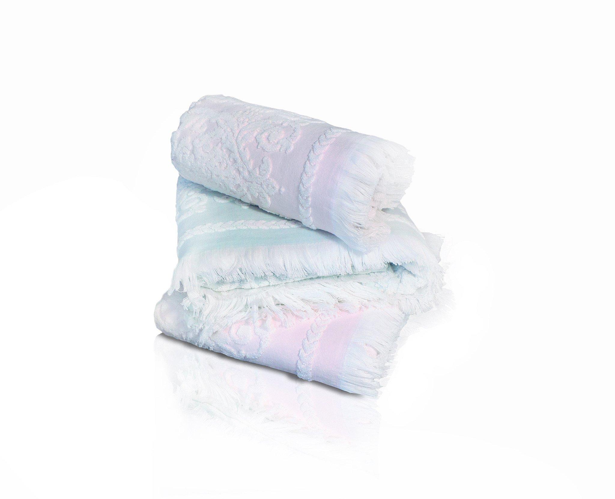 Комплект полотенец с бахромой (50x90+75x150) Sandra Tivolyo