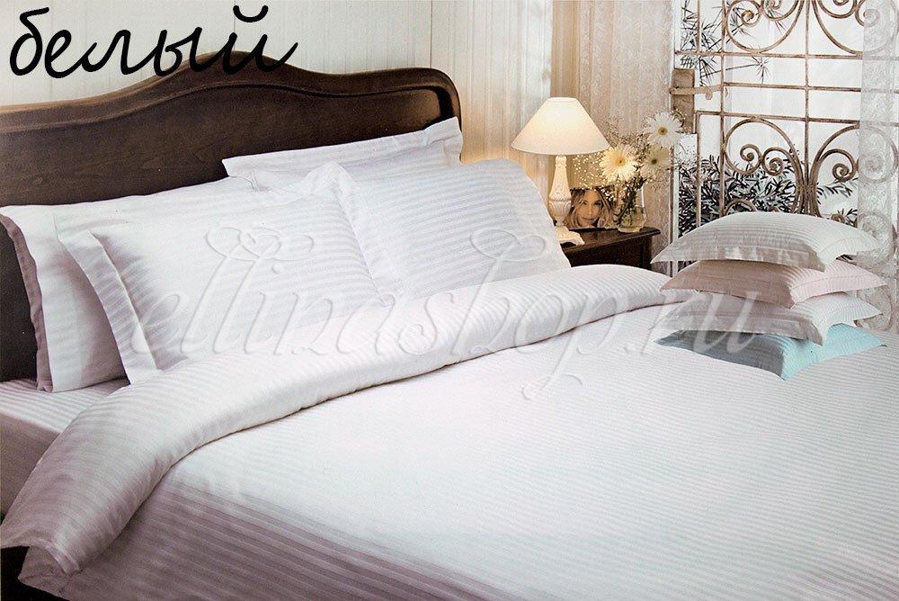 Жаккард белый комплект постельного белья Tivolyo