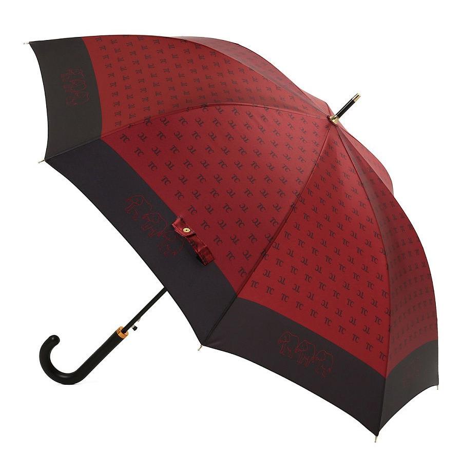 Зонт-трость L2288 бордо (полуавтомат) 120 см Три слона