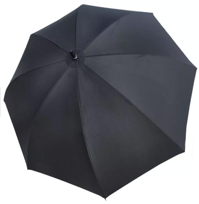 Зонт трость из эпонжа M2775 черный (механический) 154 см Три слона