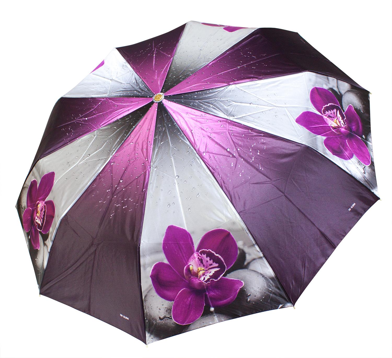 Зонт из фотосатина L3102 Орхидея (полный автомат) 104 см Три слона