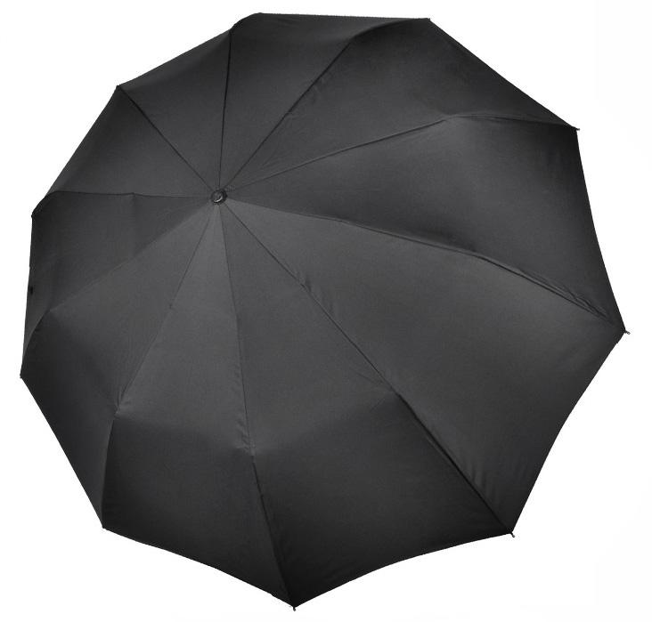 Зонт мужской M7100 черный (полный автомат) 125 см Три слона