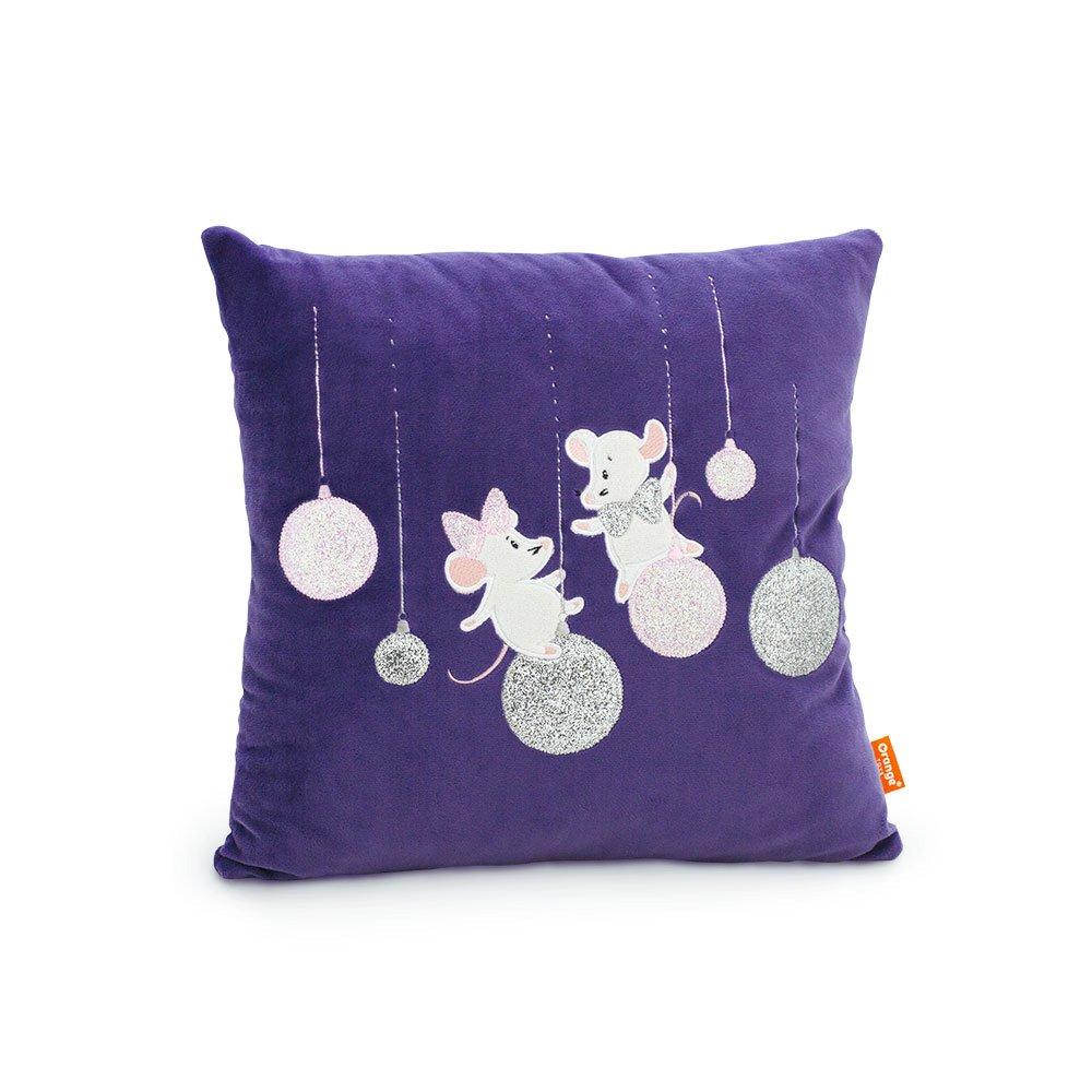 Декоративная подушка 9043 Мышка Рождество Orange