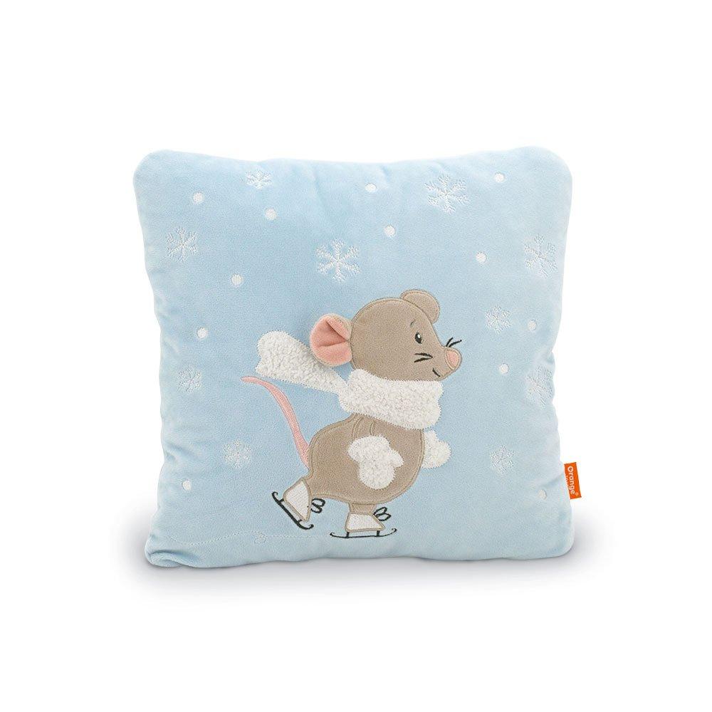 Декоративная подушка 9045 Мышка Мася на катке Orange