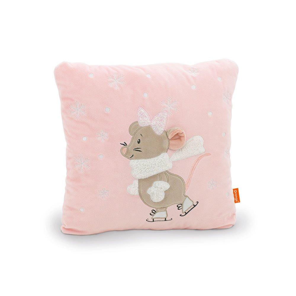 Декоративная подушка 9046 Мышка Мила на катке Orange