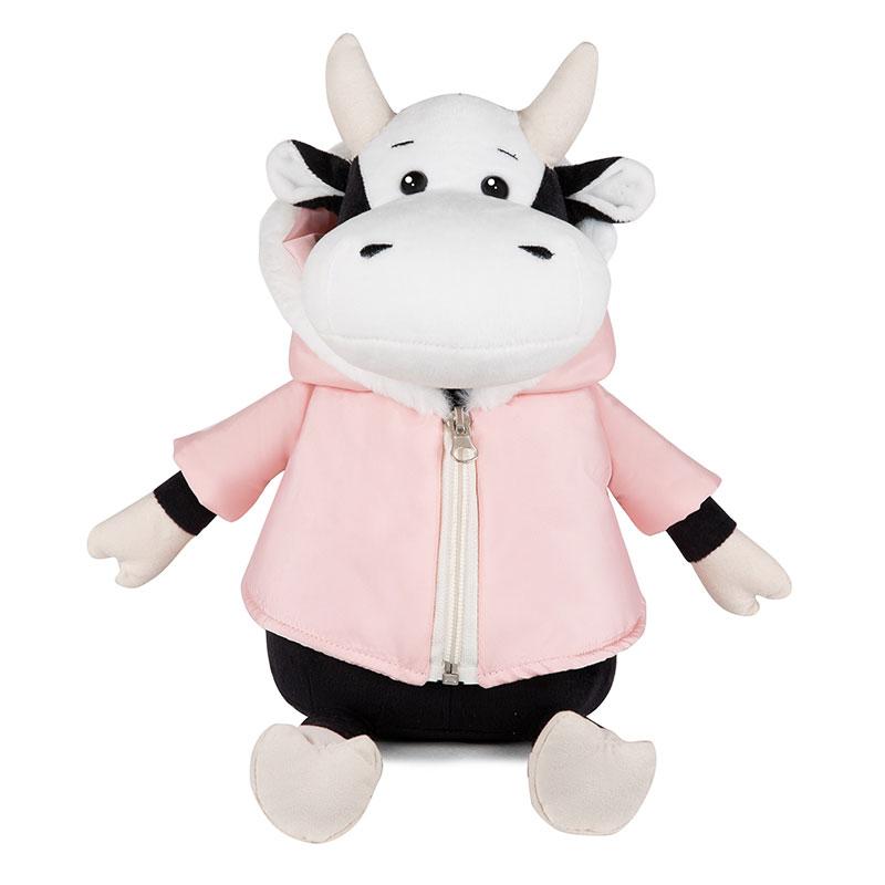 Игрушка MRT022022-28 Коровка Маша в розовой куртке 28 см Maxitoys