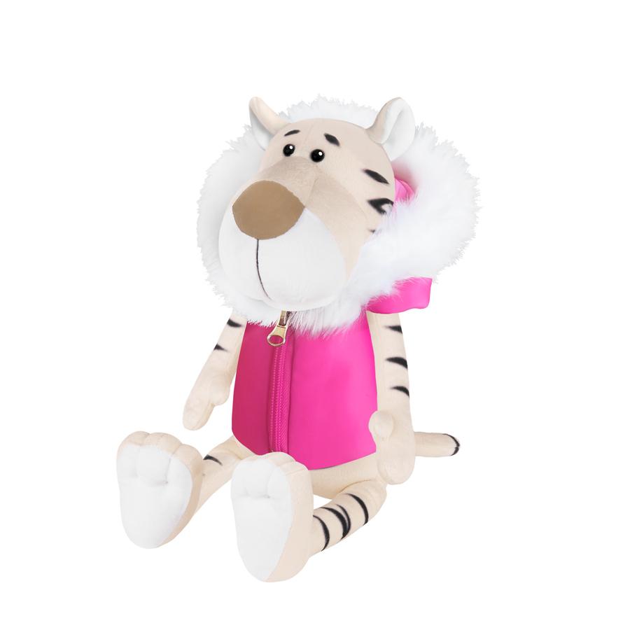 Игрушка  MT-MRT022109-20 Белая Тигрица в Розовой Жилетке 20 см Maxitoys