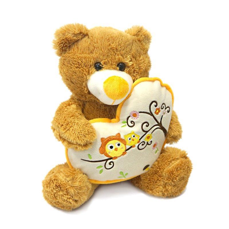 Мягкая игрушка MT-SUT101303 Мишка Берни с сердцем Maxitoys