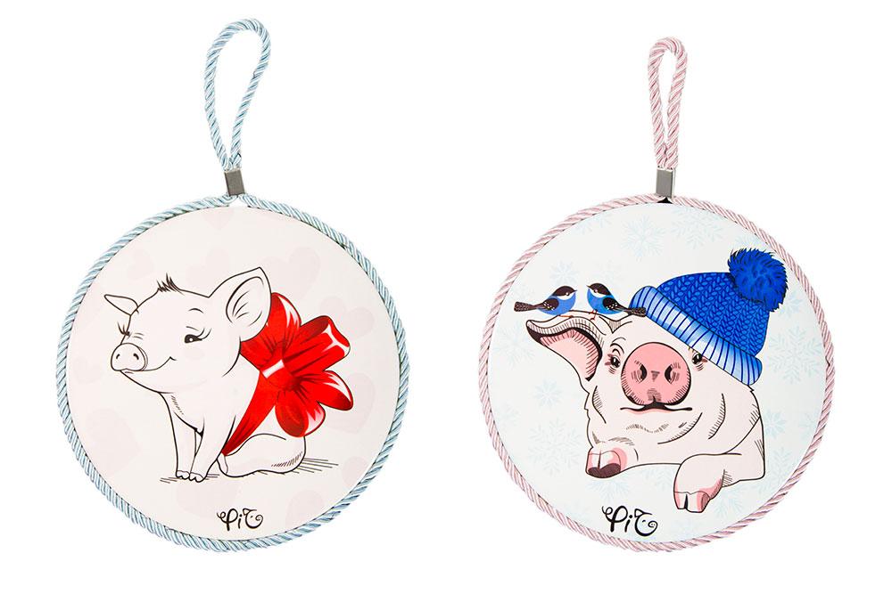 """Подставка под горячее 213350 """"Love pigs"""" в ассортименте,16 см"""