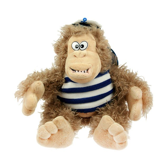 Мягкая игрушка 77205 Обезьянка морячок 18 см