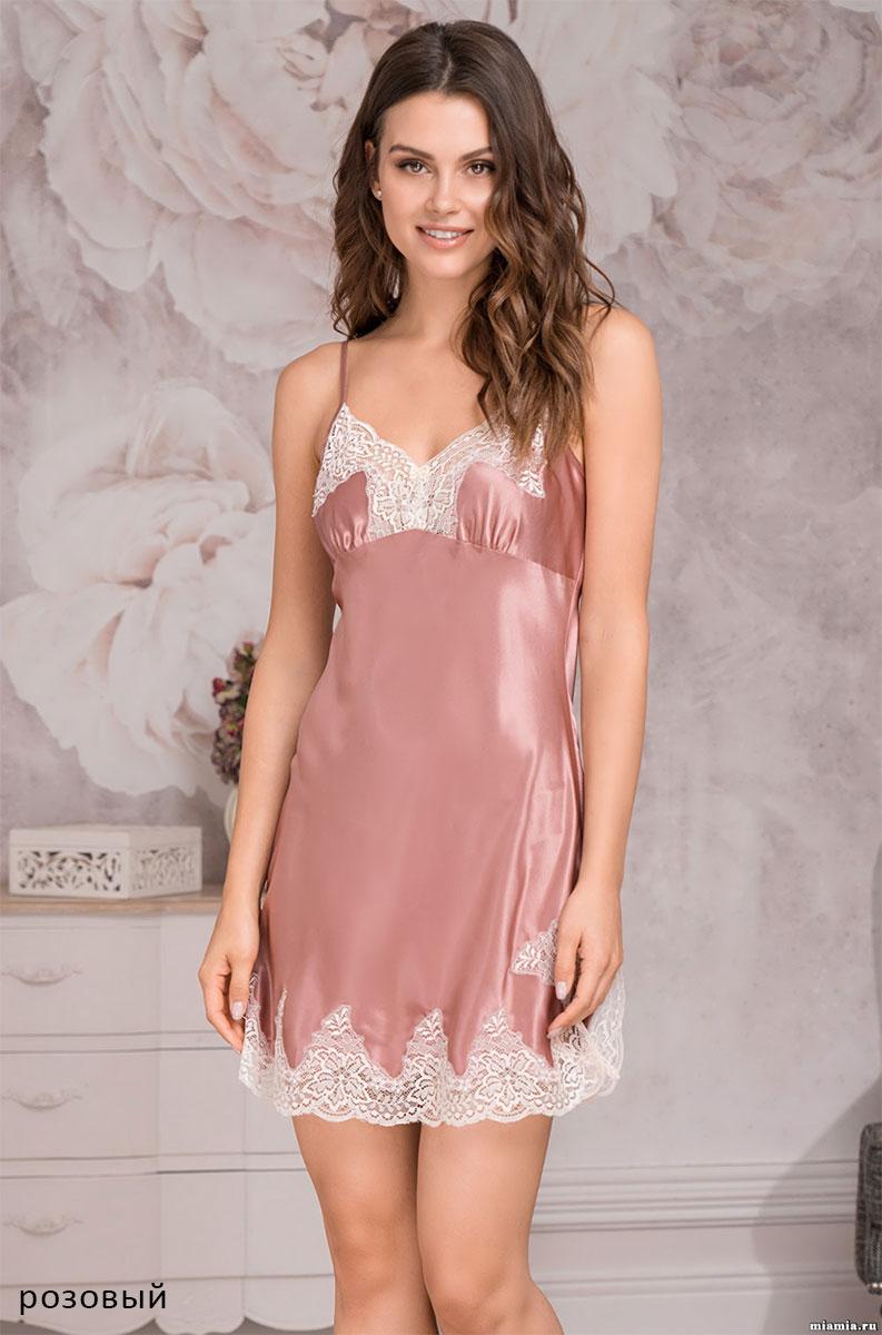 Шелковая ночная сорочка 3441 Мэрэлин Делюкс Mia Amore