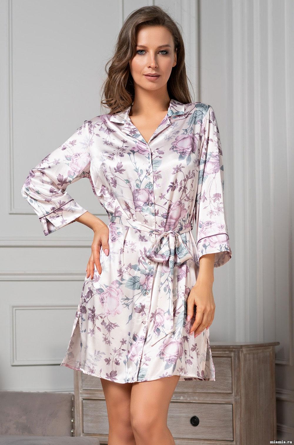 Рубашка-халат с кружевом 3547 Miracle Mia Amore
