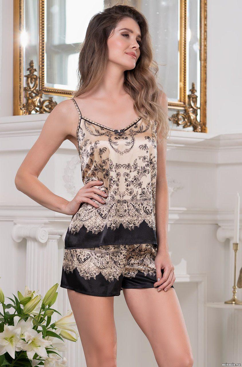 Комплект из шелка (топ, шорты) 3692 Penelopa Mia Amore