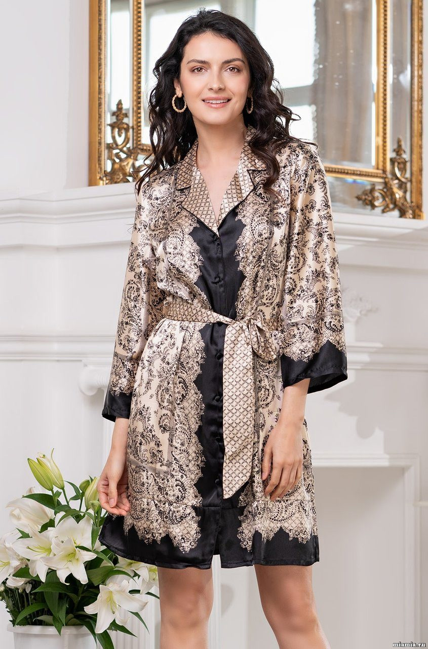 Халат-рубашка из шелка 3697 Penelopa Mia Amore