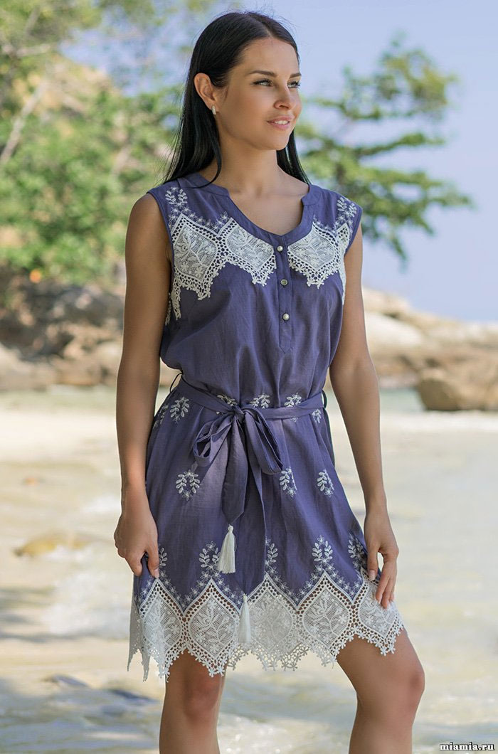 Платье-туника с вышивкой 6391 Марсель Mia Amore