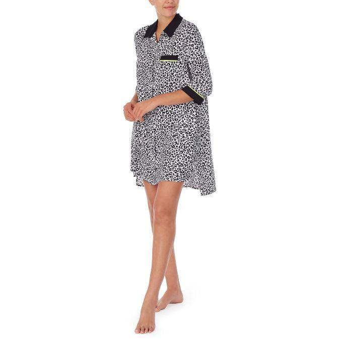 Вискозный халат на пуговицах YI2322474 DKNY