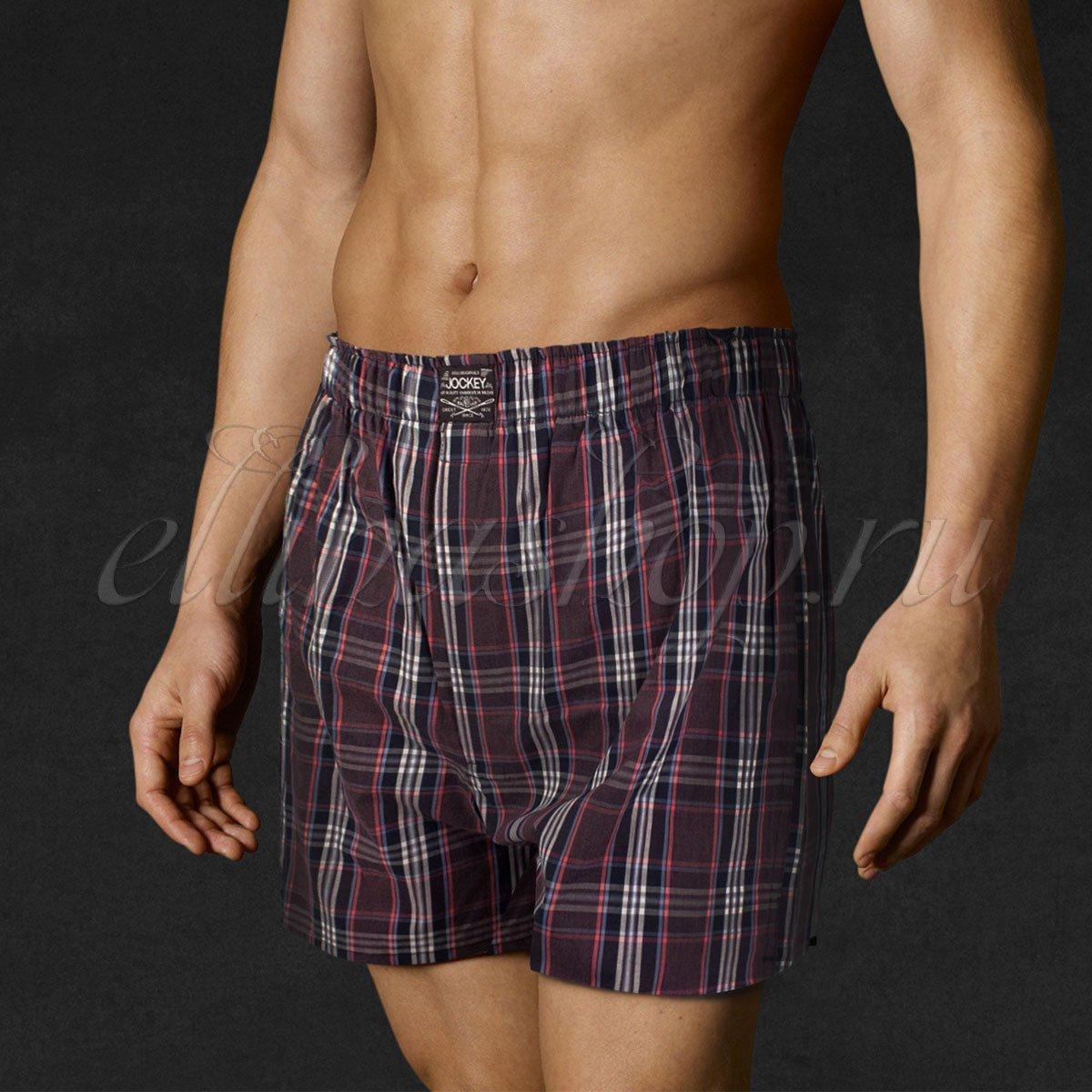 Трусы мужские шорты 311062 Клетка бордо Jockey