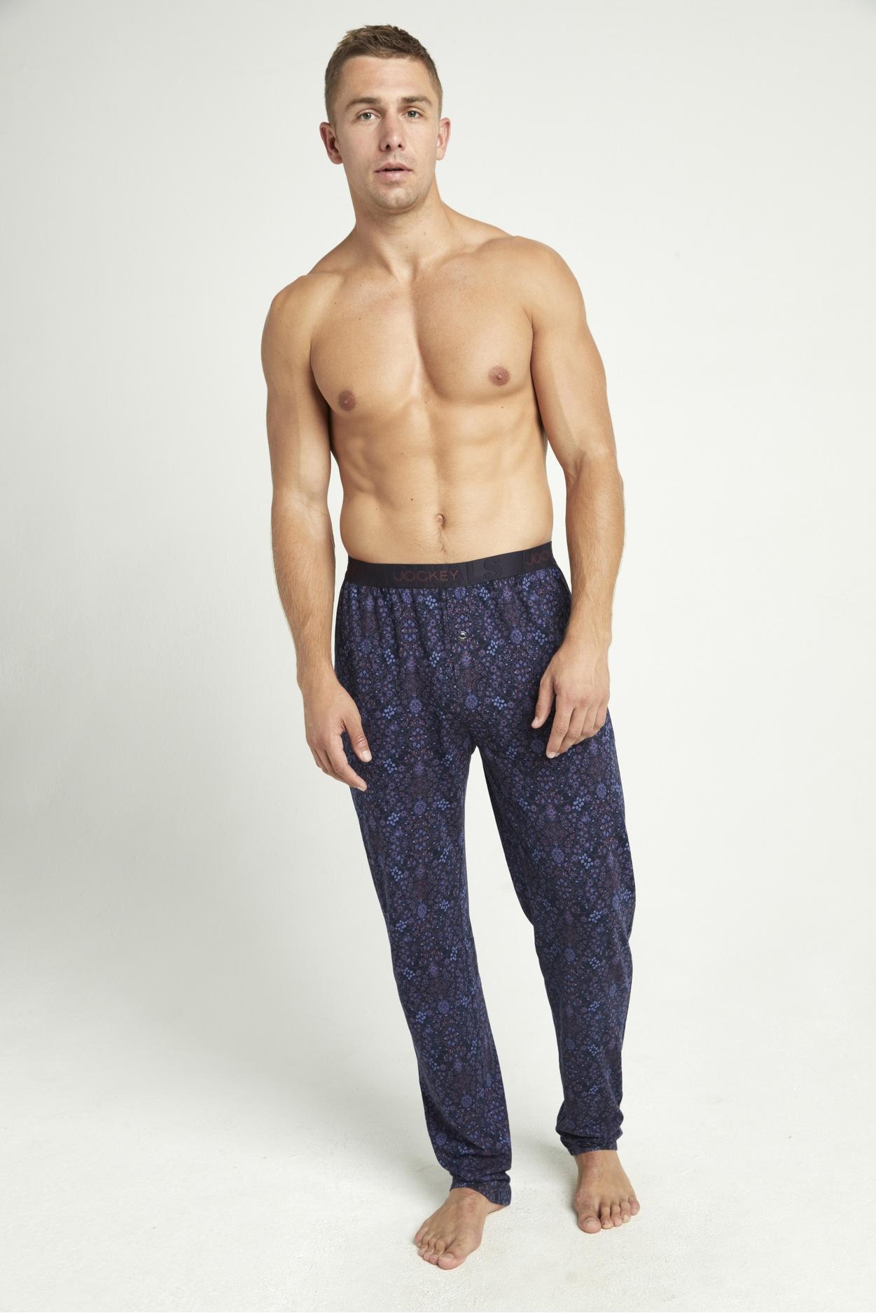 Мужские трикотажные брюки 500756H синий-сиреневый Jockey