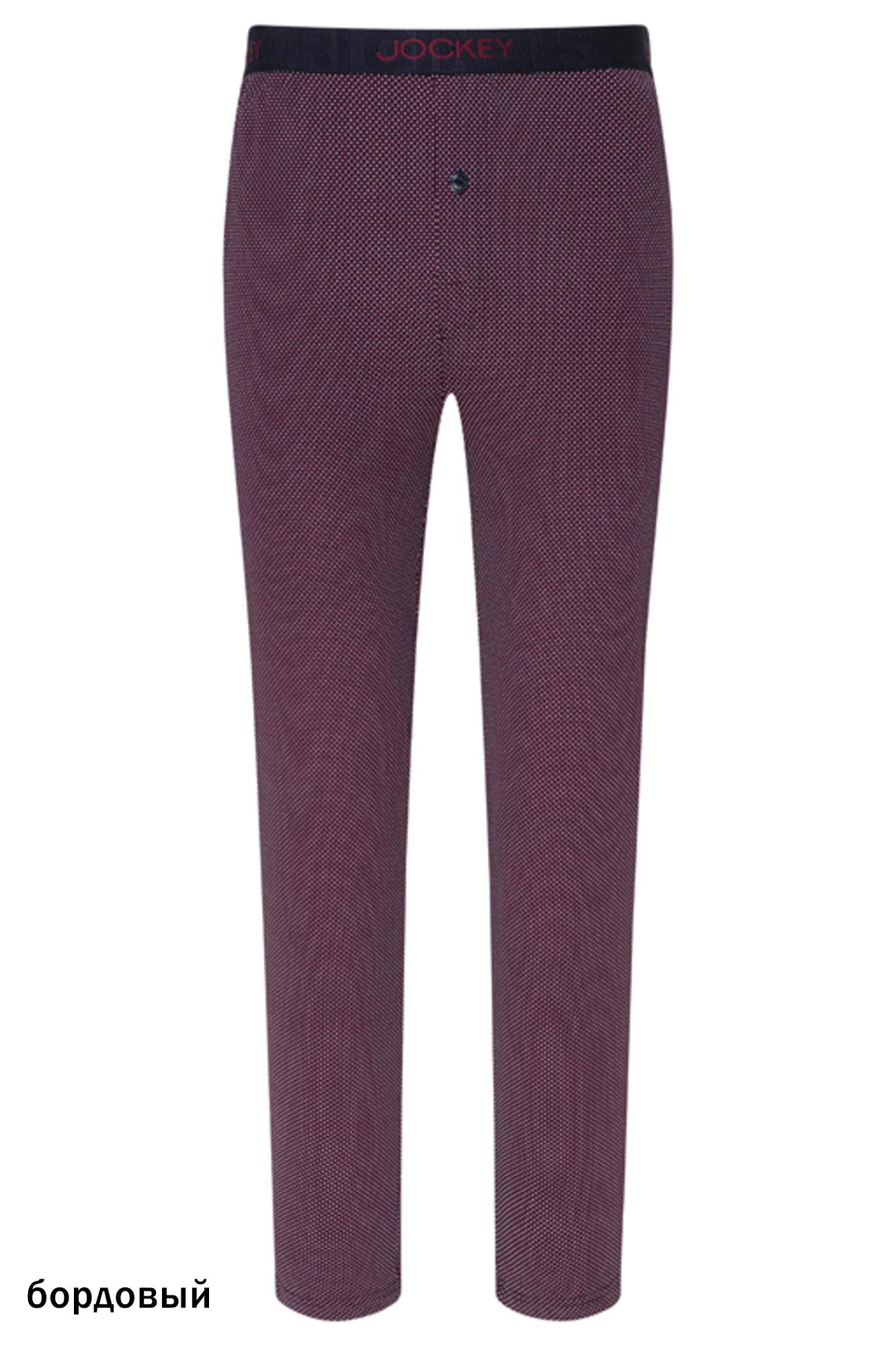 Мужские трикотажные брюки 500756H бордовый Jockey