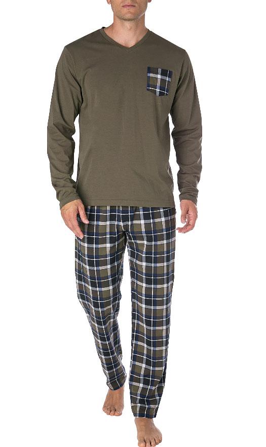 Мужской комплект (кофта + брюки) 580009 хаки Jockey