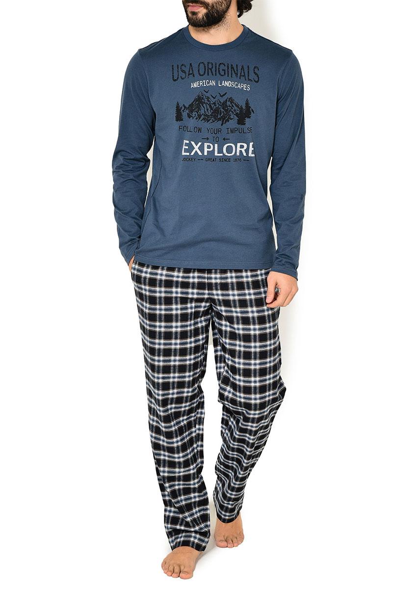 Мужской комплект (кофта + брюки) 582005 синий Jockey