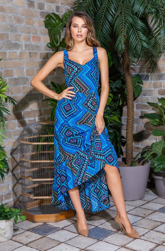 Платье женское из вискозы 16436 Jana голубой Mia-Mia