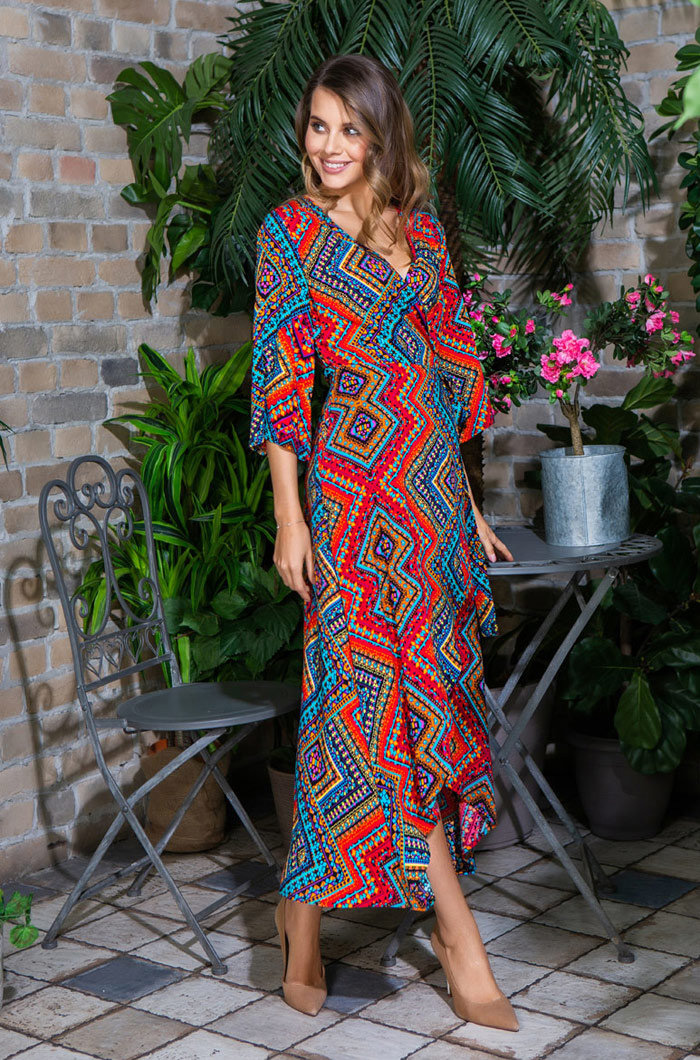 Длинное платье 16437 Jana красный Mia-Mia
