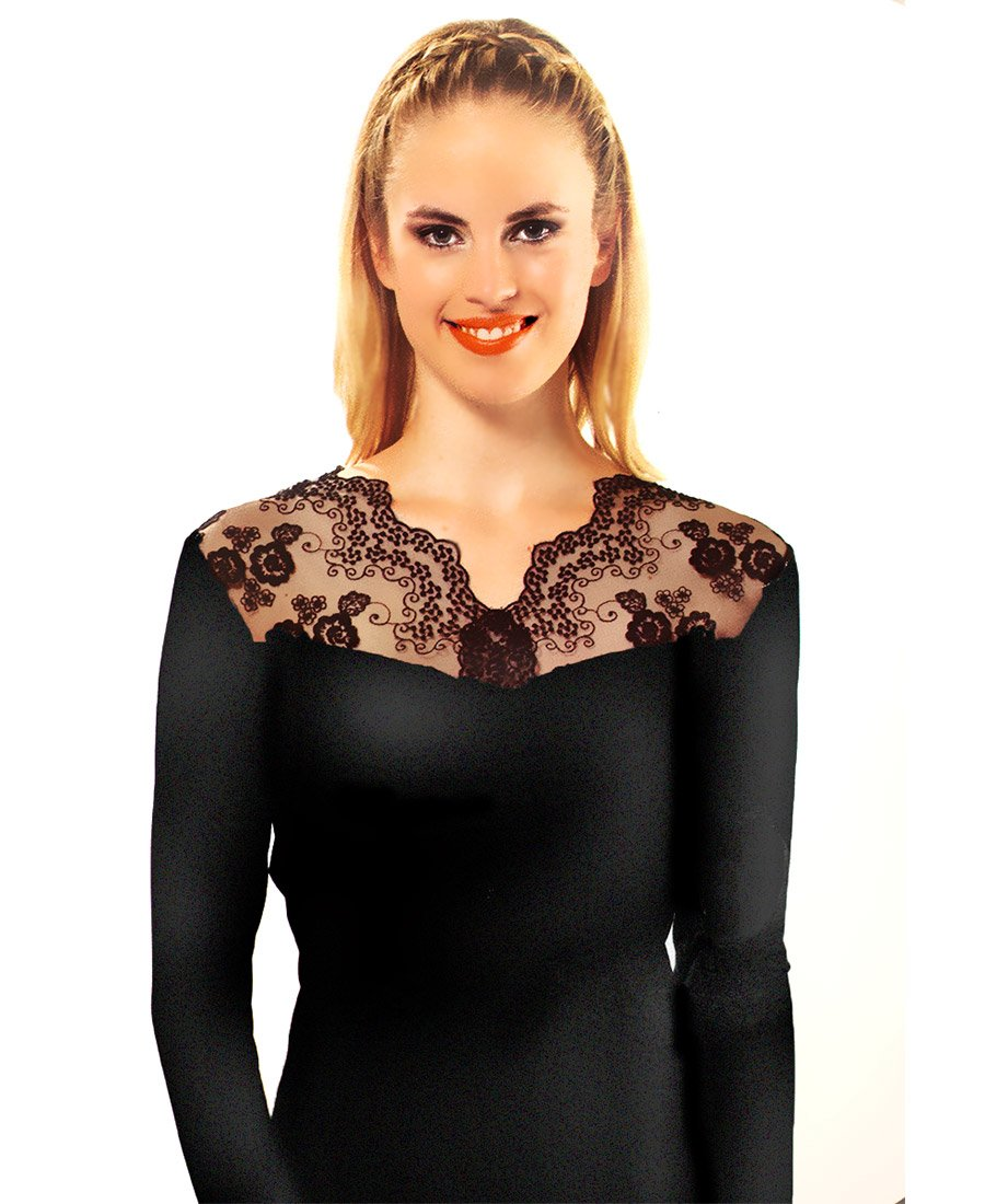0812 Сетка - кофта женская с вышивкой Мета
