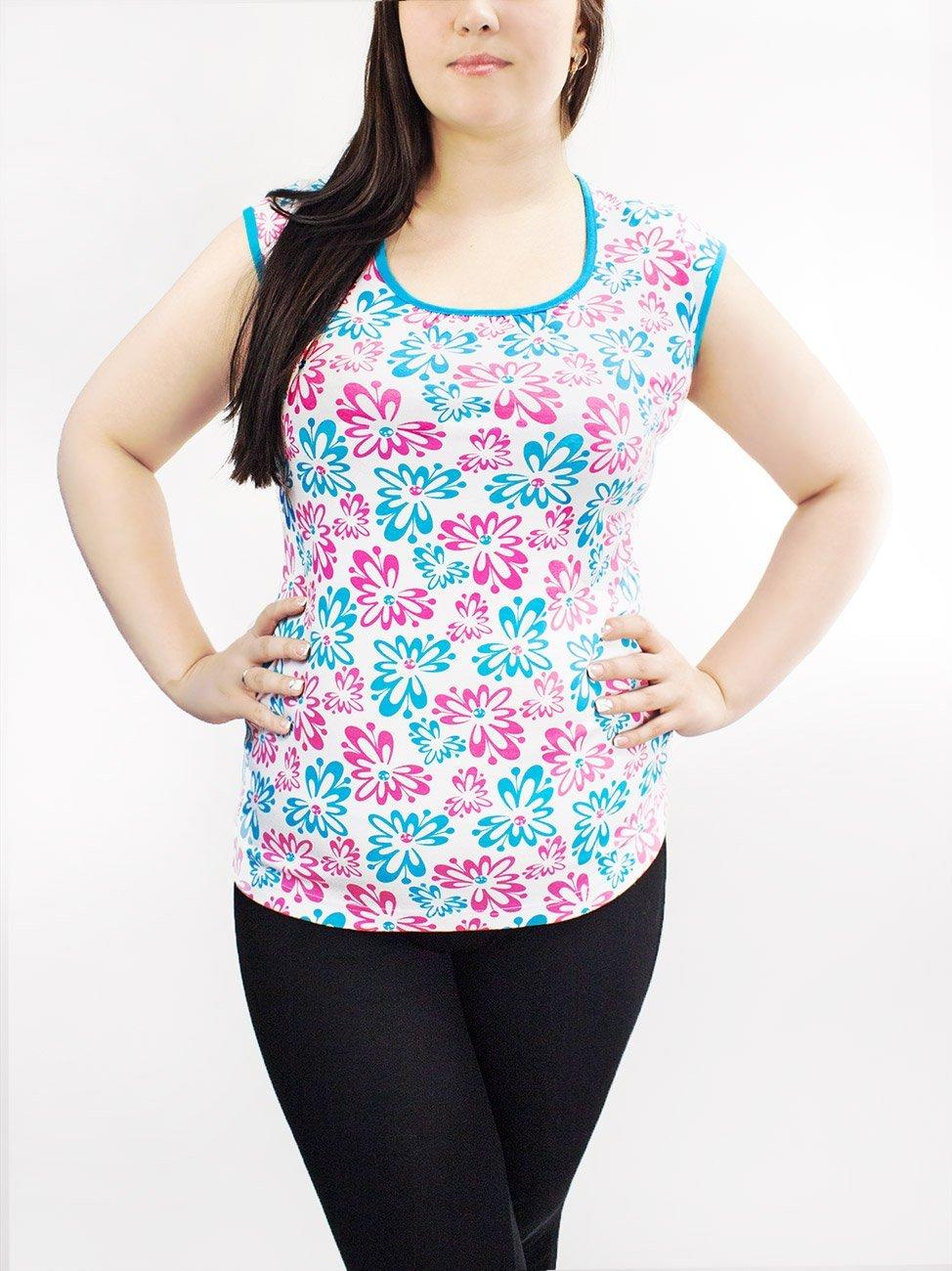 299W Цветы - футболка женская трикотажная Купалинка