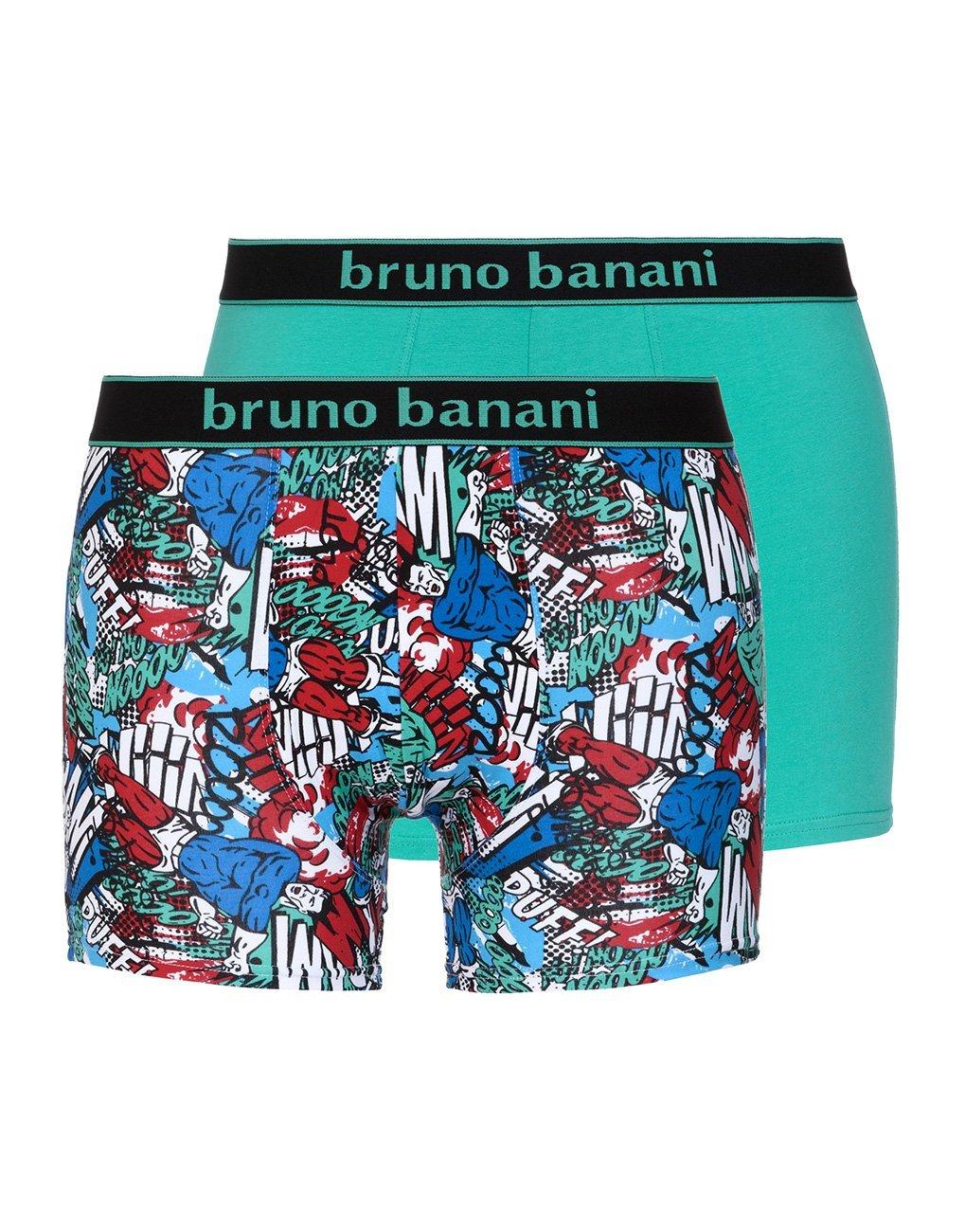 Трусы мужские боксеры комплект (2 шт) 2201-1721 Comic бирюзовый Bruno banani