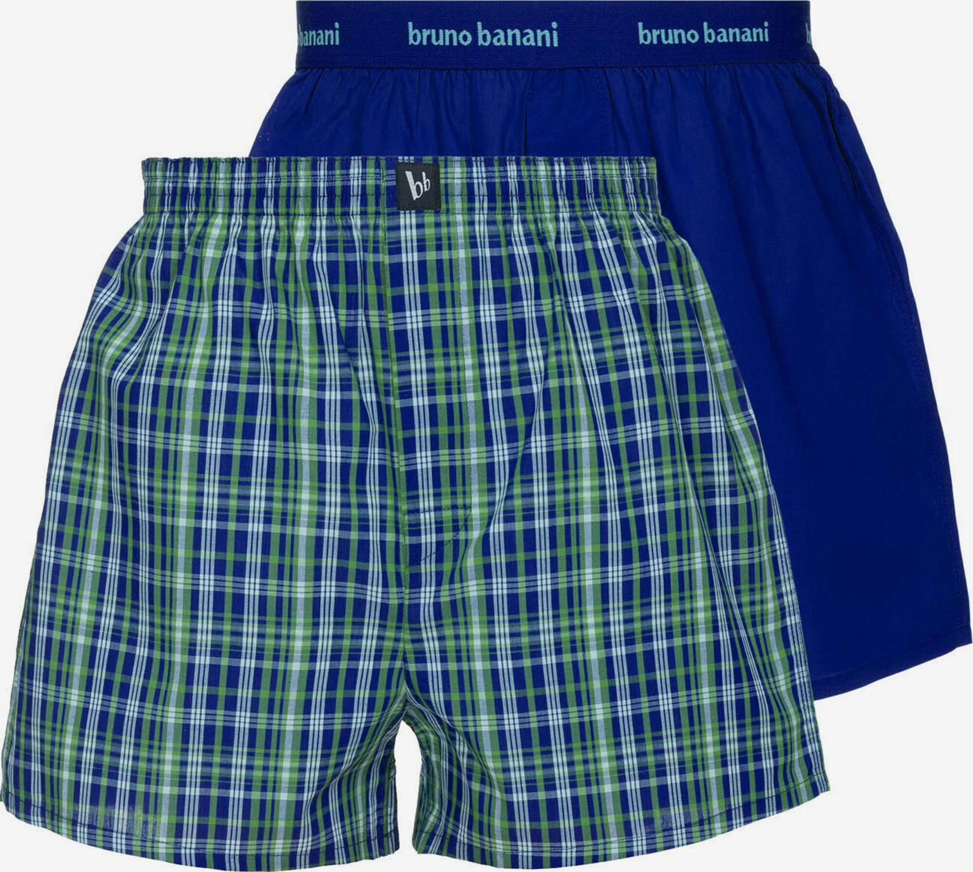Комплект мужских трусов шорт (2 шт) 2201-2226/4111 Day dreamer синий-зеленый Bruno banani