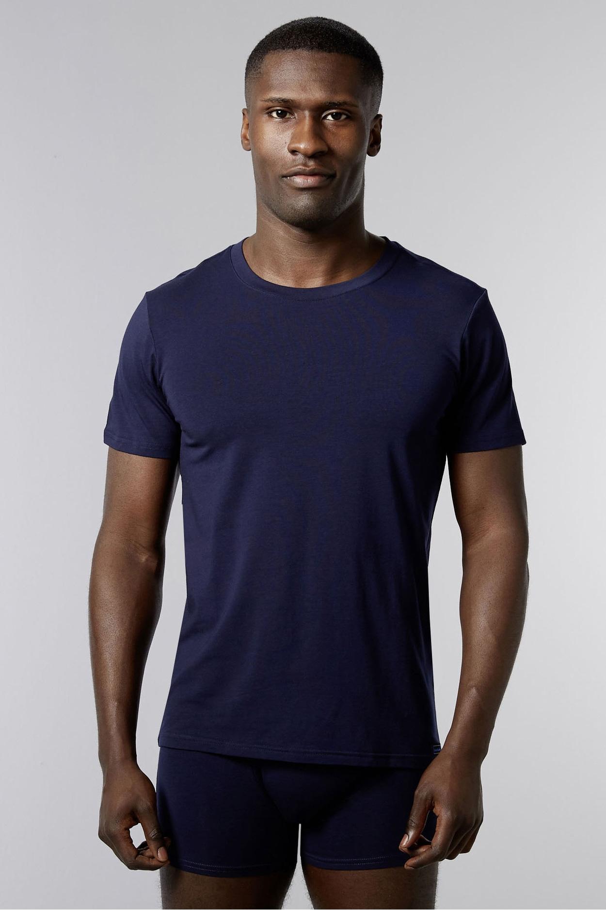 Мужская футболка 22062162 Infinity темно-синий Bruno Banani