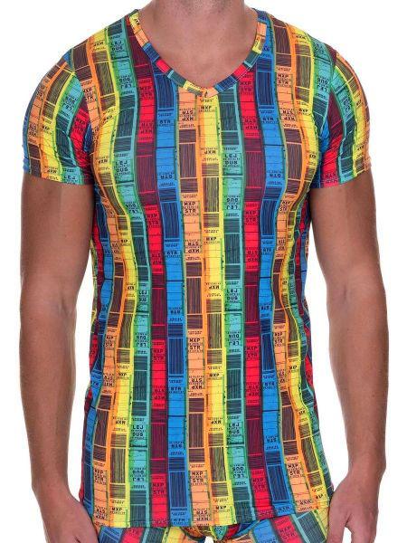 Мужская футболка 2209-2141 V-Shirt Boarding Bruno Banani