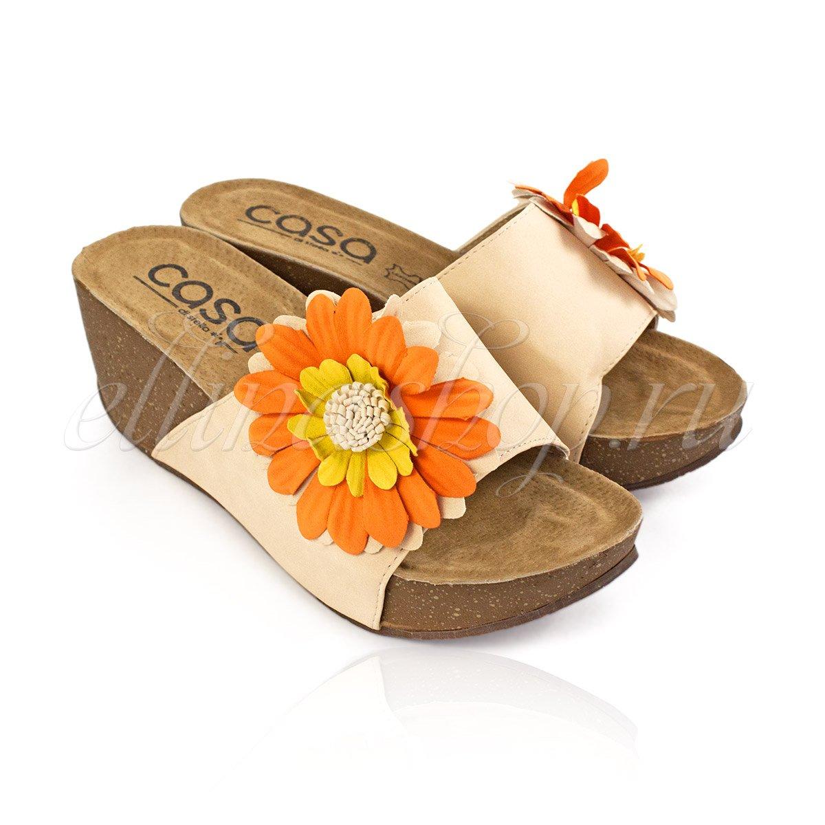 Yella крем. - пляжная открытая обувь Casa di stella