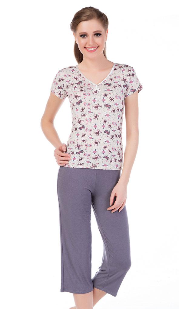 Пижама (футболка + капри) KK-1098/798 Cocoon
