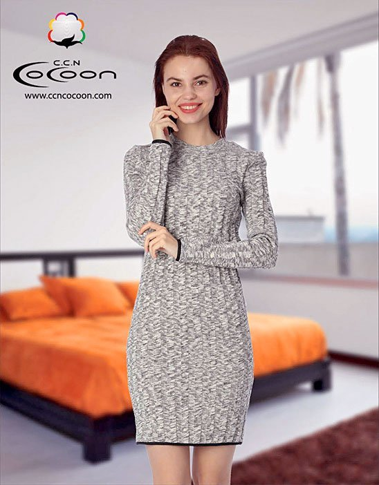 Платье вязанное, средней длины 11-3005 Cocoon
