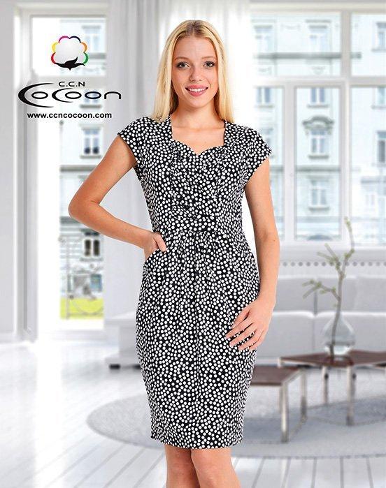 Платье средней длины Горох 11319 Cocoon
