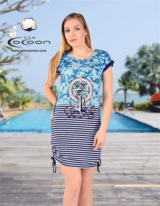Платье-туника Якорь 12447 Cocoon