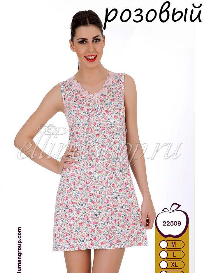 22509 Рубашка Розовый сад без рукавов Sabrina
