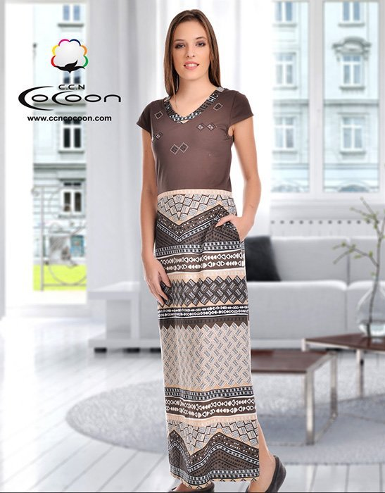 Платье длинное 23009 Cocoon