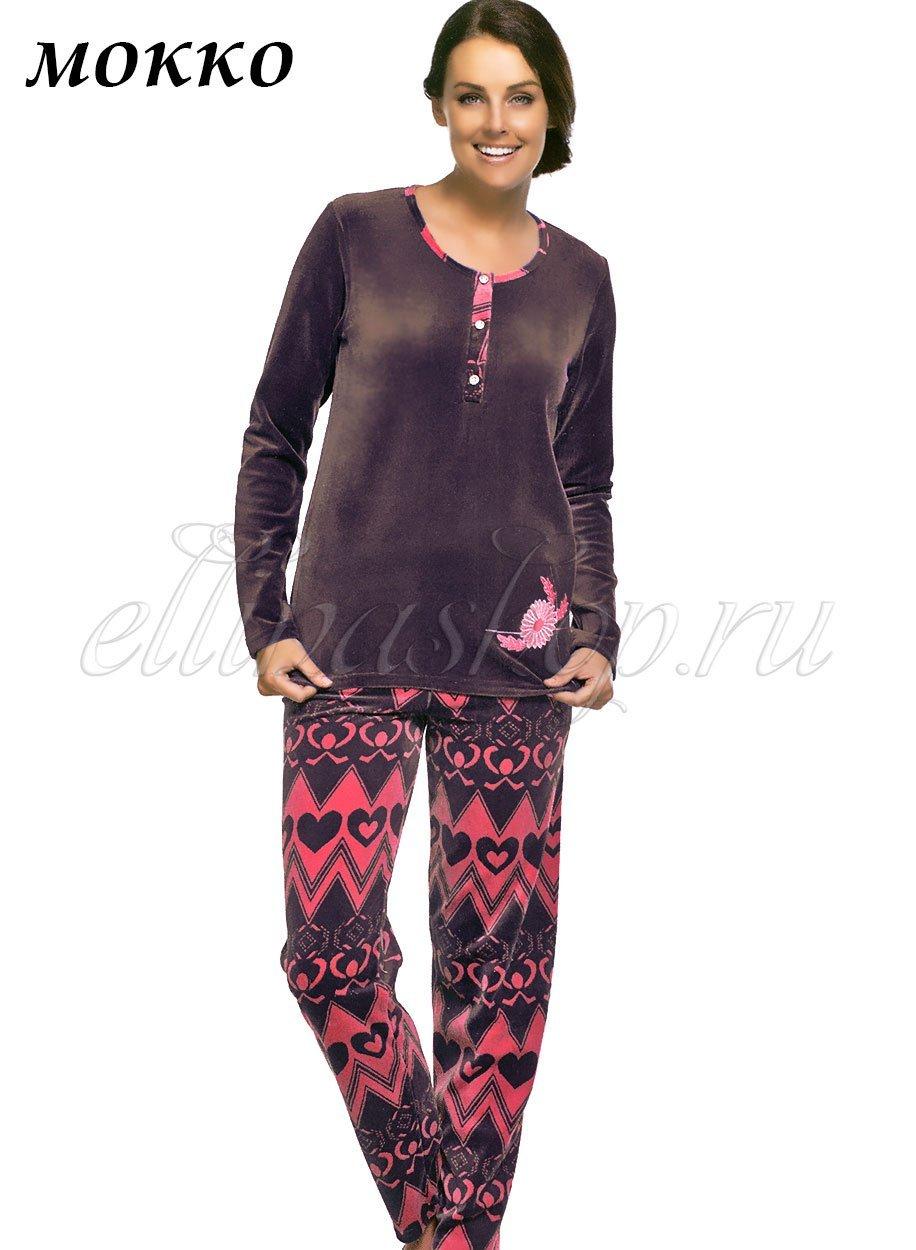 43003 Орнамент - комплект велюровый (кофта+брюки) Sabrina