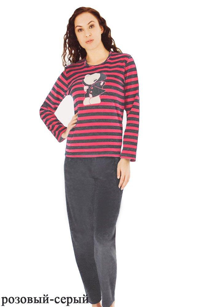 Комплект велюровый (кофта+штаны) 43005 Полоска Sabrina